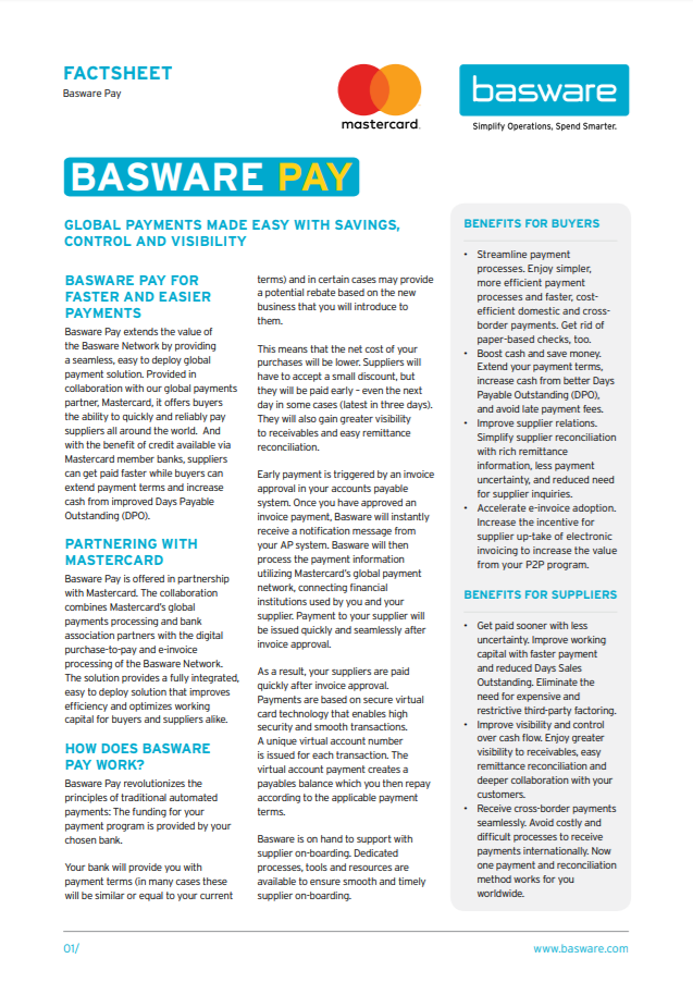 Factsheet Basware Pay