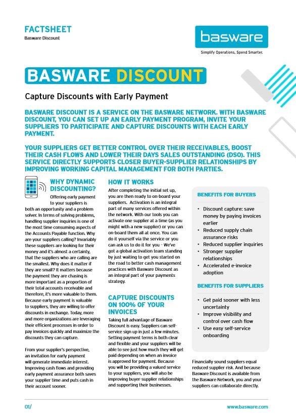 basware discount factsheet